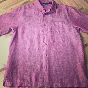 Awesome Cubavera 100% Linen Button Up Shirt Size L
